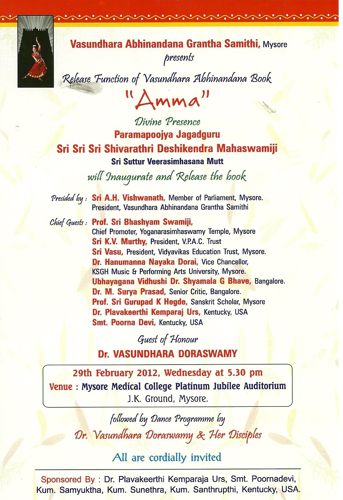 Vasundhara Doraswamy Bharatanatyam Indian Classical Dance Arts